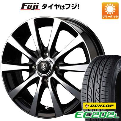 タイヤはフジ 送料無料 MID ユーロスピード BL-10 4.5J 4.50-14 DUNLOP EC202L 155/65R14 14インチ サマータイヤ ホイール4本セット
