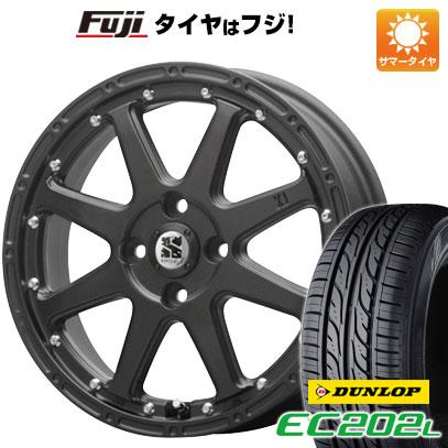 タイヤはフジ 送料無料 MLJ エクストリームJ 4.5J 4.50-15 DUNLOP EC202L 165/55R15 15インチ サマータイヤ ホイール4本セット