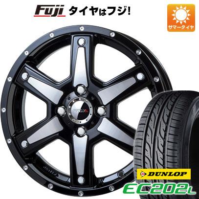 タイヤはフジ 送料無料 MKW MK-56 4.5J 4.50-15 DUNLOP EC202L 165/55R15 15インチ サマータイヤ ホイール4本セット
