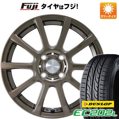 タイヤはフジ 送料無料 カジュアルセット タイプB17 ブロンズ 4.5J 4.50-15 DUNLOP EC202L 165/55R15 15インチ サマータイヤ ホイール4本セット