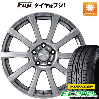 タイヤはフジ 送料無料 カジュアルセット タイプB17 メタリックグレー 6.5J 6.50-16 DUNLOP EC202L 205/60R16 16インチ サマータイヤ ホイール4本セット
