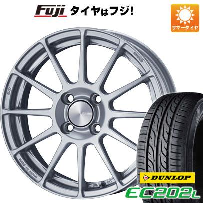 タイヤはフジ 送料無料 ENKEI エンケイ PF03 6J 6.00-15 DUNLOP EC202L 185/65R15 15インチ サマータイヤ ホイール4本セット