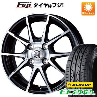 タイヤはフジ 送料無料 ソリオ(MA26S) TECHNOPIA テクノピア アドニス JXS 4.5J 4.50-14 DUNLOP EC202L 165/70R14 14インチ サマータイヤ ホイール4本セット