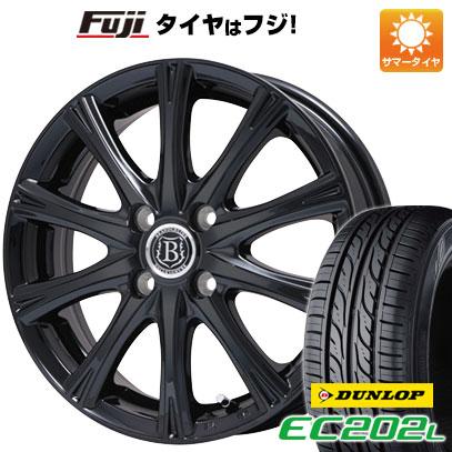 タイヤはフジ 送料無料 フィット GK3専用 BRANDLE-LINE ブランドルライン アヴェルサ 10Z 5.5J 5.50-14 DUNLOP EC202L 175/70R14 14インチ サマータイヤ ホイール4本セット