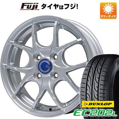 タイヤはフジ 送料無料 BRANDLE ブランドル M69 5.5J 5.50-14 DUNLOP EC202L 175/65R14 14インチ サマータイヤ ホイール4本セット