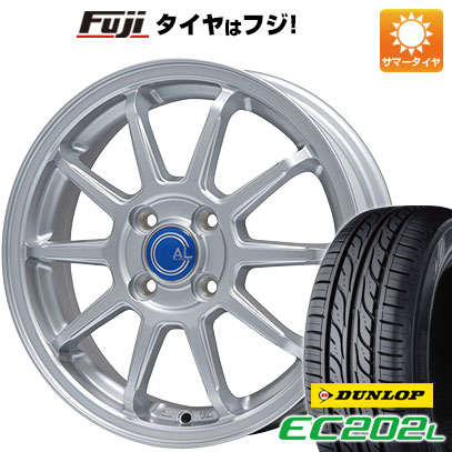 タイヤはフジ 送料無料 BRANDLE ブランドル M60 4.5J 4.50-14 DUNLOP EC202L 155/65R14 14インチ サマータイヤ ホイール4本セット