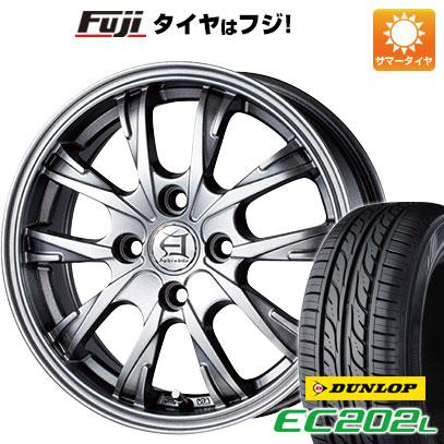 タイヤはフジ 送料無料 TECHNOPIA テクノピア アフロディーテ GX 4.5J 4.50-14 DUNLOP EC202L 155/65R14 14インチ サマータイヤ ホイール4本セット