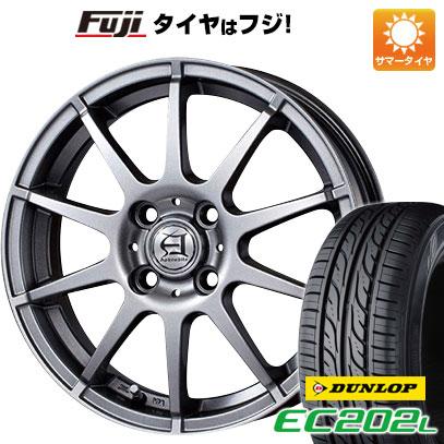 タイヤはフジ 送料無料 TECHNOPIA テクノピア アフロディーテ HS 4.5J 4.50-14 DUNLOP EC202L 155/65R14 14インチ サマータイヤ ホイール4本セット