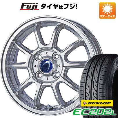 タイヤはフジ 送料無料 TECHNOPIA テクノピア アルテミス LSW 5.5J 5.50-14 DUNLOP EC202L 175/70R14 14インチ サマータイヤ ホイール4本セット