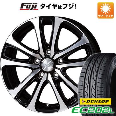 タイヤはフジ 送料無料 TOPY トピー セレブロ LF5 6J 6.00-15 DUNLOP EC202L 195/65R15 15インチ サマータイヤ ホイール4本セット