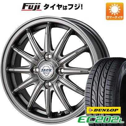 タイヤはフジ 送料無料 MONZA モンツァ ZACK JP-812 5.5J 5.50-14 DUNLOP EC202L 185/70R14 14インチ サマータイヤ ホイール4本セット