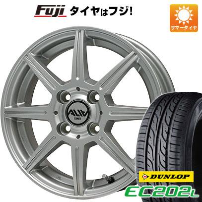 タイヤはフジ 送料無料 CLIMATE クライメイト アリア 5.5J 5.50-14 DUNLOP EC202L 185/70R14 14インチ サマータイヤ ホイール4本セット