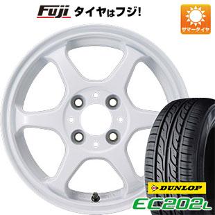 タイヤはフジ 送料無料 カジュアルセット タイプL 2. 5J 5.00-15 DUNLOP EC202L 165/55R15 15インチ サマータイヤ ホイール4本セット