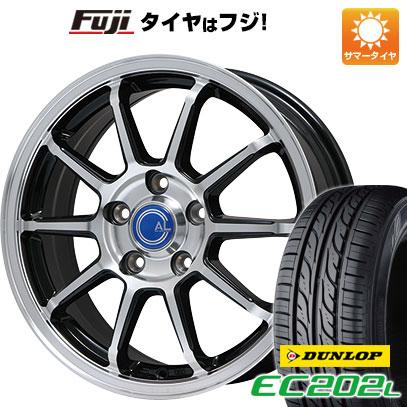 タイヤはフジ 送料無料 BRANDLE ブランドル M60B 6.5J 6.50-16 DUNLOP EC202L 205/60R16 16インチ サマータイヤ ホイール4本セット