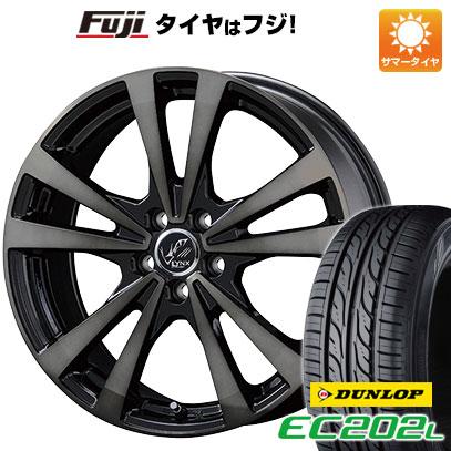 タイヤはフジ 送料無料 KOSEI コーセイ プラウザー リンクスBC 6.5J 6.50-16 DUNLOP EC202L 205/55R16 16インチ サマータイヤ ホイール4本セット