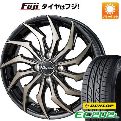 タイヤはフジ 送料無料 MONZA モンツァ ワーウィック ハーベル 5.5J 5.50-15 DUNLOP EC202L 185/65R15 15インチ サマータイヤ ホイール4本セット