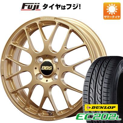 タイヤはフジ 送料無料 BBS JAPAN BBS RP 6J 6.00-15 DUNLOP EC202L 185/65R15 15インチ サマータイヤ ホイール4本セット
