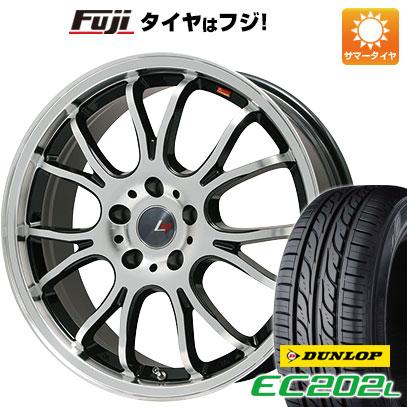 タイヤはフジ 送料無料 LEHRMEISTER ヴァッサーノ(ブラックポリッシュ) 4.5J 4.50-14 DUNLOP EC202L 155/65R14 14インチ サマータイヤ ホイール4本セット