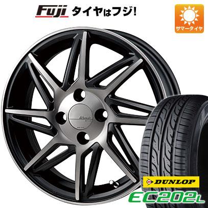 タイヤはフジ 送料無料 MONZA モンツァ ワーウィック レボックス 4.5J 4.50-15 DUNLOP EC202L 165/55R15 15インチ サマータイヤ ホイール4本セット