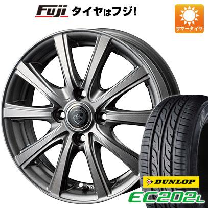タイヤはフジ 送料無料 INTER MILANO インターミラノ クレール DG10 5.5J 5.50-14 DUNLOP EC202L 185/70R14 14インチ サマータイヤ ホイール4本セット