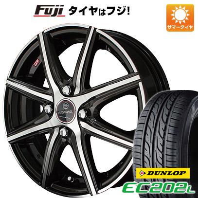 タイヤはフジ 送料無料 KYOHO 共豊 スマック プライム ヴァニッシュ 4.5J 4.50-14 DUNLOP EC202L 155/65R14 14インチ サマータイヤ ホイール4本セット