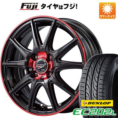タイヤはフジ 送料無料 MID ファイナルスピード GR-ボルト 4.5J 4.50-14 DUNLOP EC202L 155/65R14 14インチ サマータイヤ ホイール4本セット