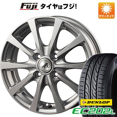 タイヤはフジ 送料無料 INTER MILANO インターミラノ AZ-SPORTS EX-10 4.5J 4.50-14 DUNLOP EC202L 155/65R14 14インチ サマータイヤ ホイール4本セット
