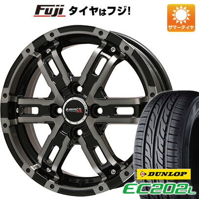 タイヤはフジ 送料無料 BIGWAY ビッグウエイ B-MUD Z(ブラックポリッシュ/ブラッククリア) 5.5J 5.50-16 DUNLOP EC202L 175/60R16 16インチ サマータイヤ ホイール4本セット