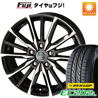 タイヤはフジ 送料無料 KYOHO 共豊 スマック プライム ヴァルキリー 6J 6.00-15 DUNLOP EC202L 195/65R15 15インチ サマータイヤ ホイール4本セット