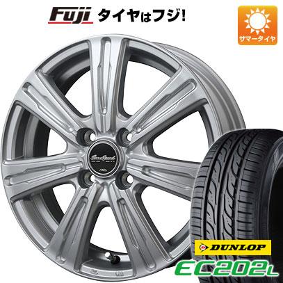タイヤはフジ 送料無料 MID ユーロスピード C-07 4.5J 4.50-15 DUNLOP EC202L. 165/55R15 15インチ サマータイヤ ホイール4本セット