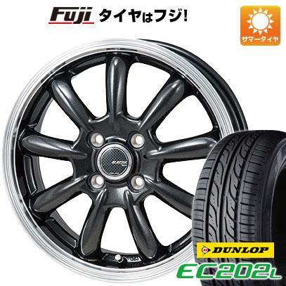 タイヤはフジ 送料無料 MONZA モンツァ JPスタイル バーニー 4J 4.00-13 DUNLOP EC202L 155/65R13 13インチ サマータイヤ ホイール4本セット