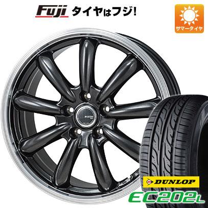 8月 2・5・8日はポイント倍増! タイヤはフジ 送料無料 MONZA モンツァ JPスタイル バーニー 6.5J 6.50-16 DUNLOP EC202L 215/60R16 16インチ サマータイヤ ホイール4本セット