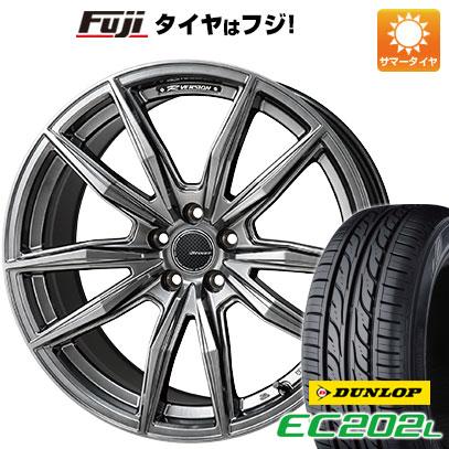 タイヤはフジ 送料無料 MONZA モンツァ Rバージョンブロッカー 4.5J 4.50-15 DUNLOP EC202L 165/55R15 15インチ サマータイヤ ホイール4本セット