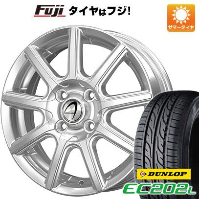 タイヤはフジ 送料無料 TECHNOPIA テクノピア アルテミス NS9 4.5J 4.50-15 DUNLOP EC202L. 165/55R15 15インチ サマータイヤ ホイール4本セット
