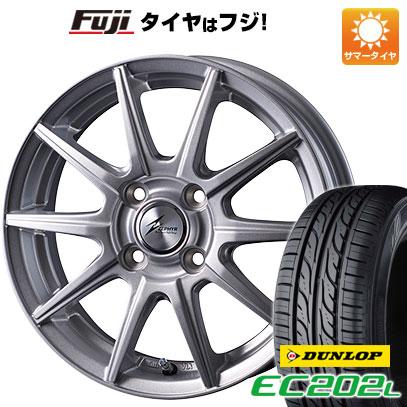 タイヤはフジ 送料無料 INTER MILANO インターミラノ ゼファー SR10J 5.5J 5.50-14 DUNLOP EC202L 185/70R14 14インチ サマータイヤ ホイール4本セット