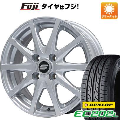 タイヤはフジ 送料無料 BRANDLE ブランドル M71 4.5J 4.50-14 DUNLOP EC202L 165/55R14 14インチ サマータイヤ ホイール4本セット