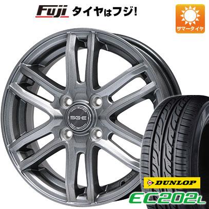 タイヤはフジ 送料無料 BRANDLE ブランドル G61 5.5J 5.50-14 DUNLOP EC202L 185/65R14 14インチ サマータイヤ ホイール4本セット