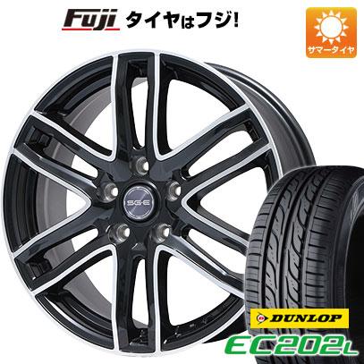 タイヤはフジ 送料無料 BRANDLE ブランドル G61B 6J 6.00-16 DUNLOP EC202L 205/60R16 16インチ サマータイヤ ホイール4本セット
