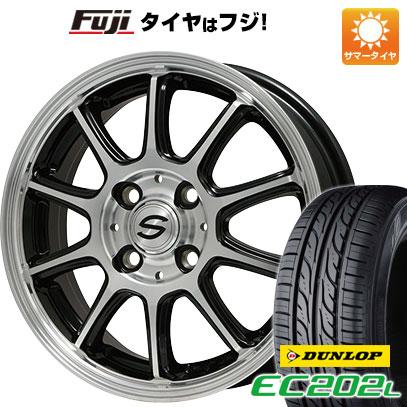 7/25はエントリーでポイント15倍 タイヤはフジ 送料無料 BRANDLE ブランドル Z01B 4J 4.00-13 145/80R13 13インチ DUNLOP EC202L サマータイヤ ホイール4本セット