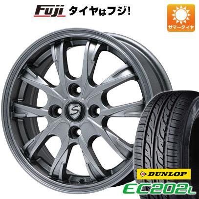 タイヤはフジ 送料無料 BRANDLE ブランドル 486 5.5J 5.50-15 DUNLOP EC202L 185/60R15 15インチ サマータイヤ ホイール4本セット