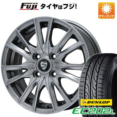 タイヤはフジ 送料無料 BRANDLE ブランドル 485 5.5J 5.50-14 DUNLOP EC202L 185/70R14 14インチ サマータイヤ ホイール4本セット