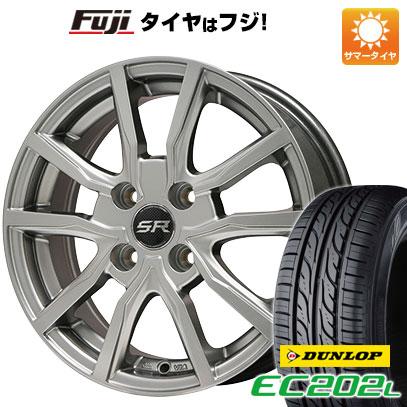 タイヤはフジ 送料無料 BRANDLE ブランドル N52 4.5J 4.50-15 DUNLOP EC202L 165/55R15 15インチ サマータイヤ ホイール4本セット