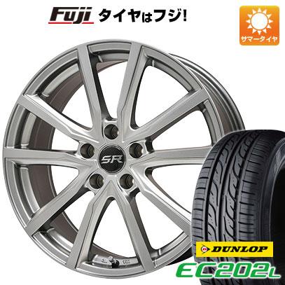 タイヤはフジ 送料無料 BRANDLE ブランドル N52 7J 7.00-16 DUNLOP EC202L 215/60R16 16インチ サマータイヤ ホイール4本セット