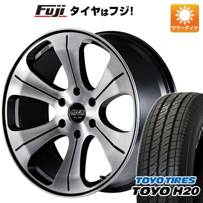 タイヤはフジ 送料無料 ハイエース200系 M-TECHNO エムテクノ M.T.S. MJ18-02S 8J 8.00-18 TOYO H20 ブラックレター 225/50R18 18インチ サマータイヤ ホイール4本セット