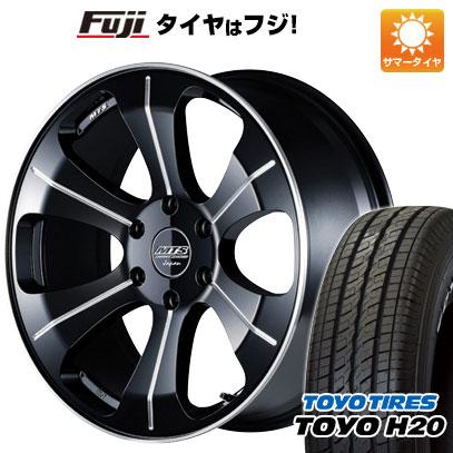 タイヤはフジ 送料無料 ハイエース200系 M-TECHNO エムテクノ M.T.S. MJ18-03S 8J 8.00-18 TOYO H20 ブラックレター 225/50R18 18インチ サマータイヤ ホイール4本セット