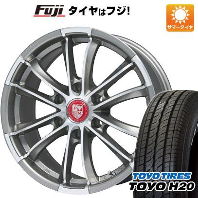 タイヤはフジ 送料無料 ハイエース200系 PREMIX シャンクス(チタニウムシルバーポリッシュ) 7.5J 7.50-18 TOYO H20 ブラックレター 225/50R18 18インチ サマータイヤ ホイール4本セット