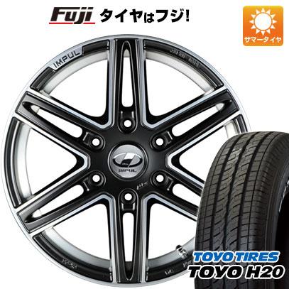 タイヤはフジ 送料無料 NV350キャラバン IMPUL インパル CX-06 6.5J 6.50-17 TOYO H20 NEWホワイトレター 215/60R17 17インチ サマータイヤ ホイール4本セット