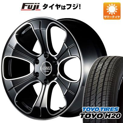 タイヤはフジ 送料無料 ハイエース200系 M-TECHNO エムテクノ M.T.S. MJ18-01S 8J 8.00-18 TOYO H20 ブラックレター 225/50R18 18インチ サマータイヤ ホイール4本セット
