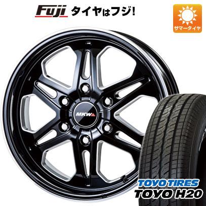 タイヤはフジ 送料無料 ハイエース200系 MKW MK-85 6.5J 6.50-17 TOYO H20 NEWホワイトレター 215/60R17 17インチ サマータイヤ ホイール4本セット