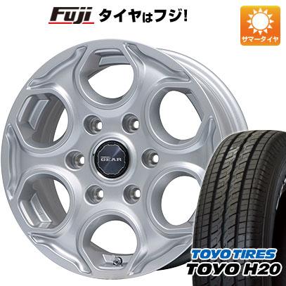 タイヤはフジ 送料無料 NV350キャラバン BRANDLE ブランドル 502 6J 6.00-15 TOYO H20 NEWホワイトレター 195/80R15 15インチ サマータイヤ ホイール4本セット